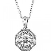 Diamond Fashion Necklace in Sterling Silver (0.04 Ct. tw.) (0.04 Ct. tw.)