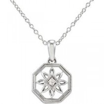 Diamond Fashion Necklace in Sterling Silver (0.02 Ct. tw.) (0.02 Ct. tw.)