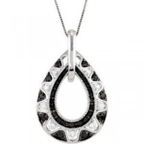 Black Diamond Necklace (0.5 Ct. tw.) (0.5 Ct. tw.)