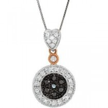 Black Diamond Necklace (0.25 Ct. tw.) (0.25 Ct. tw.)