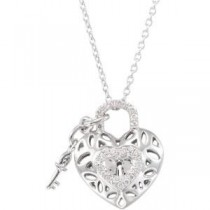 Diamond Heart Necklace in Sterling Silver (0.16 Ct. tw.) (0.16 Ct. tw.)