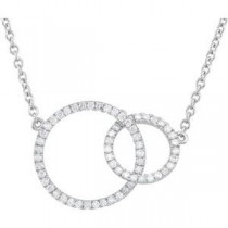 CT tw Diamond  Circle Necklace