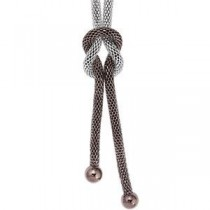 Amalfitrade Stainless Steel 22 Mesh Lariat Necklace in Stainless Steel