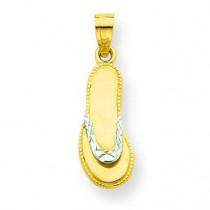 Flip Flop Charm in 10k Yellow Gold