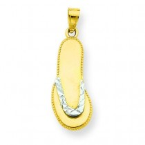 Flip Flop Pendant in 10k Yellow Gold