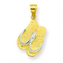 Flip Flops Charm in 10k Yellow Gold