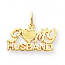 I Love My Husband Charm in 10k Yellow Gold