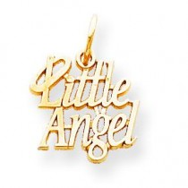 Little Angel Halo Charm in 10k Yellow Gold