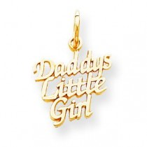 Daddy Little Girl Charm in 10k Yellow Gold