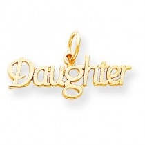 Daughter Charm in 10k Yellow Gold