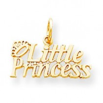 Little Princess Crown Charm in 10k Yellow Gold