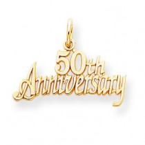 50th Anniversary Charm in 10k Yellow Gold
