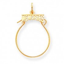 Memories Charm Holder in 10k Yellow Gold