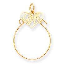 Love In Heart Charm Holder in 10k Yellow Gold