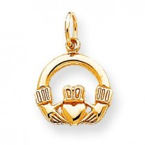 Claddagh Charm in 10k Yellow Gold