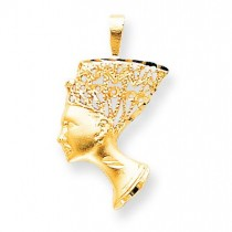 Egyptian Head Charm in 10k Yellow Gold