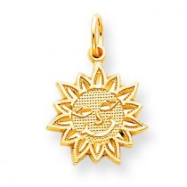 Sun Charm in 10k Yellow Gold