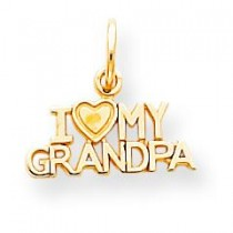 I Love My Grandpa Charm in 10k Yellow Gold