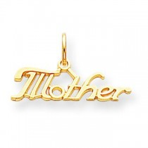 Mother Charm in 10k Yellow Gold