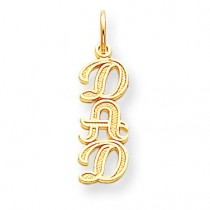 Dad Charm in 10k Yellow Gold
