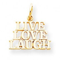 Live Love Laugh Charm in 10k Yellow Gold