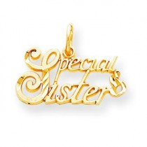 Special Sister Charm in 10k Yellow Gold