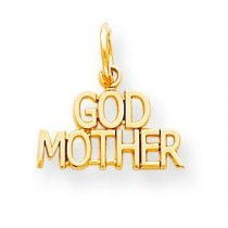 Godmother Charm in 10k Yellow Gold