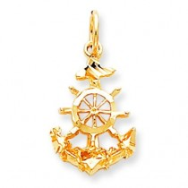 Anchor Charm in 10k Yellow Gold