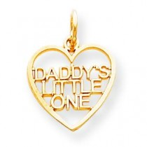 Daddy Little One Charm in 10k Yellow Gold