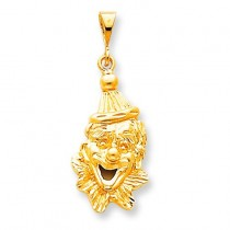 Clowns Head Charm in 10k Yellow Gold