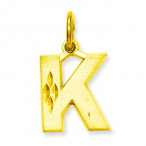 Initial K Charm in 10k Yellow Gold