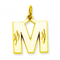 Initial M Charm in 10k Yellow Gold