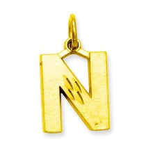 Initial N Charm in 10k Yellow Gold