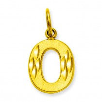 Initial O Charm in 10k Yellow Gold