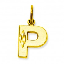 Initial P Charm in 10k Yellow Gold