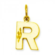 Initial R Charm in 10k Yellow Gold