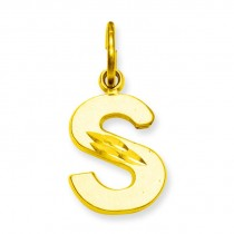 Initial S Charm in 10k Yellow Gold