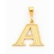 Initial F Charm in 10k Yellow Gold