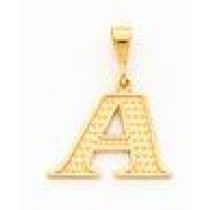 Initial I Charm in 10k Yellow Gold