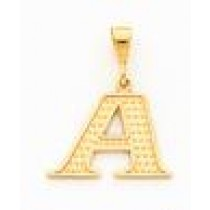 Initial J Charm in 10k Yellow Gold