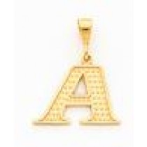 Initial L Charm in 10k Yellow Gold