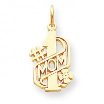 Mom Charm in 10k Yellow Gold