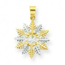 Snowflake Charm in 10k Yellow Gold