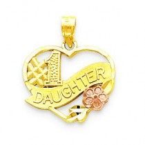 Daughter Charm in 10k Two-tone Gold