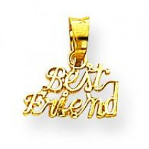 Best Friend Charm in 10k Yellow Gold