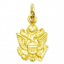 U S Army Insignia Charm in 14k Yellow Gold