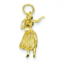 Hula Dancer Charm in 14k Yellow Gold