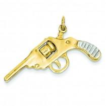 Revolver Charm in 14k Yellow Gold