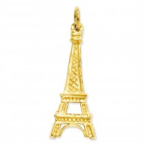 Eiffel Tower Charm in 14k Yellow Gold