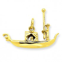 Gondola Charm in 14k Yellow Gold